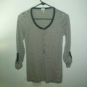 New Splendid Shirt S Striped Henley Top